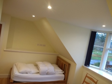 Medium sized bedroom. Walls, ceiling and trim.